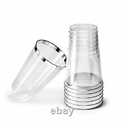 Occasions 400 Piece Wedding 400 Count (14 Once) Tumblers Silver Rimmed