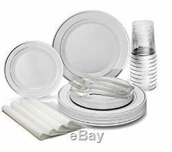 Occasions 960pcs Mis 120 960 Pièce (120 Hôte) A1. Blanc Avec Silver Rim