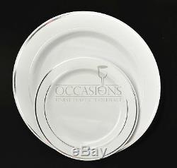 Occasions Assiettes De Fête En Plastique Jetables Pour La Noce, Choisissez La Taille Et La Quantité