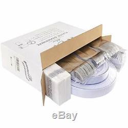 Plaques 175pcs Argent En Plastique Avec Disposable Argenterie & Coupes & Rim Main 25