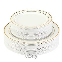 Plats En Plastique De Fête De Mariage Jetables Ultra Épais Pour Couverts, Paquet 240 Wow