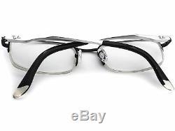 Ray Ban Lunettes Rb 6133 2672 Black / Silver Half Rim Metal Frame 5119 140