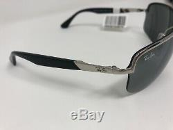 Ray Ban Rb 3510 003 / 6g Lunettes De Soleil Cadres 65/13 3n Silver Black Half Rim Ms82