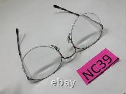 Ray Ban Rb 3947v 2501 Silver Eyeglasses Rx 51-22-145 Half Rim Round Nc39