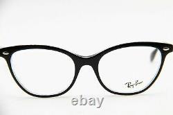 Ray Ban Rb 5360 2034 Bord De L'œil De Chat Noir Avec Accent Argent