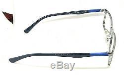 Ray Ban Rb6248 2736 Argent Chrome / Noir / Bleu Cerclée Lunettes 54/17 145