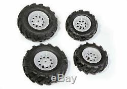 Rolly Toys 409846 Pneus Pneumatiques Pour Tracteurs Silver Rim