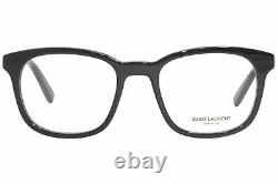 Saint Laurent Sl-459 001 Lunettes De Vue Logo Noir/argent Pour Homme Full Rim Square 51mm
