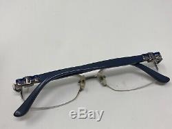 Salvatore Ferragamo Cadre Sf2101 53-16-135 015 Italie Half Rim Silver Blue 8391