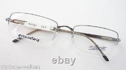 Silhouette Glasses Socket Demi Rim Lightweight Frame Silvery Haute Qualité Taille M