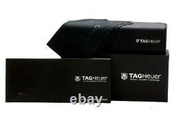 Tag Heuer Th 7624 002 Argent Noir - Lunettes Rouges Demi-jantes Lunettes Cadres 57mm