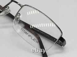Titanflex Eschenbach 820699 37 Silbe4 Half Rim Wood Look 56-19 Large + Boîtier