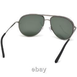 Tod's To0124 12r Lunettes De Soleil Tod's Black/silver Green Aviator Full Rim Men 135 MM