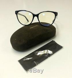 Tom Ford Tf 5618 Noir Brillant 001 Cerclée Silver't ' Logo Rx Cadre Tn-o Eyeglass