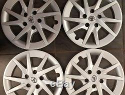 Un Ensemble De 16 Toyota Prius 2012-2015 Argent Enjoliveur Roue Couverture Rim Cover 570-61165
