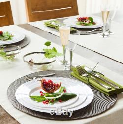 Vaisselle En Plastique De Fête De Diamètre De 23 CM Pour Assiettes Argentées Jetables Mozaik 200