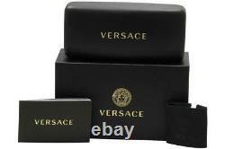Versace Ve1246b 1000 Lunettes De Vue Cadre Optique Ovale Pleine Rim Argent Femme 52mm
