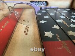 Versace Ve1247 1000 Lunettes Lilas Demi-jante 52mm Option Cadre Pour Ajouter Rx