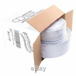 Wdf 102pcs Argent En Plastique Plaques Jetables Plaques En Plastique Avec De L'argent Rim- Dentelle